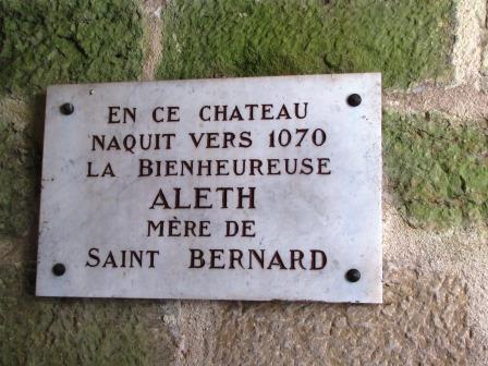 Plaque Aleth montbard