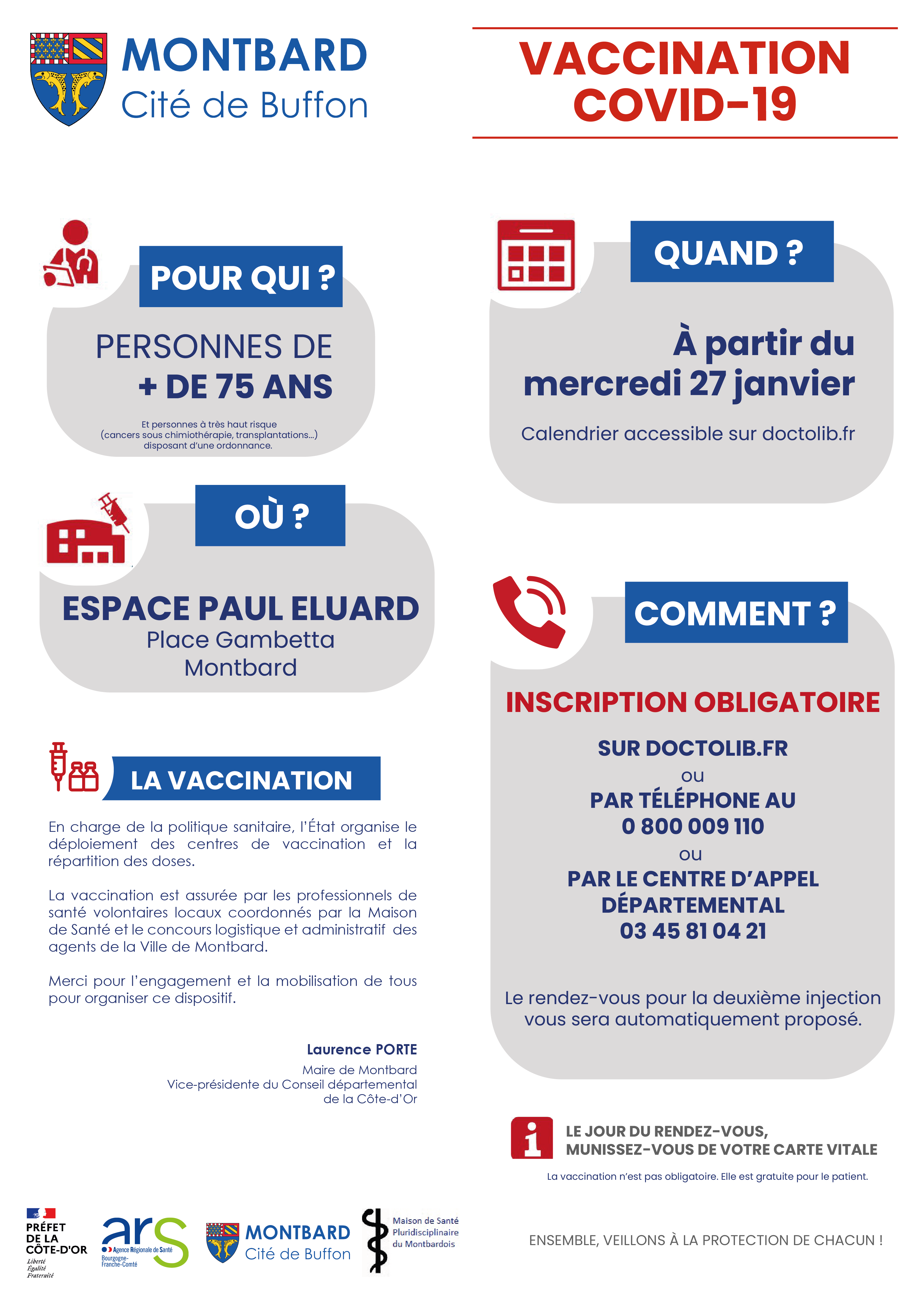 vaccination covid 19 montbard